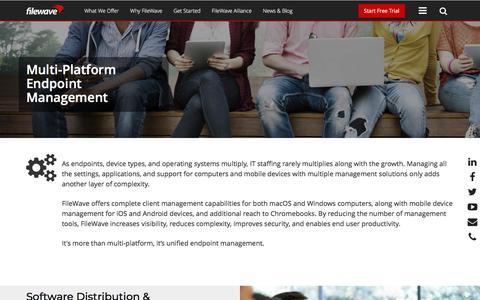 Screenshot of Team Page filewave.com - Multi-Platform Endpoint Management - FileWave - captured Aug. 13, 2018