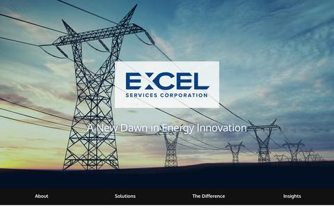 Screenshot of Home Page excelservices.com - Excel Services Corporation - captured July 12, 2017
