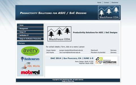 Screenshot of Contact Page blackforest-eda.de - BlackForest EDA - Contact - captured Sept. 30, 2014