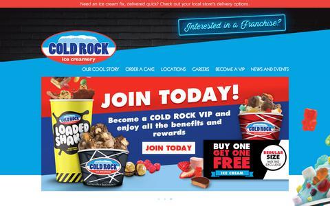 Screenshot of Home Page coldrock.com.au - Cold Rock Home | Cold Rock - captured July 19, 2018