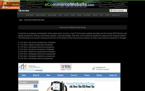 Screenshot of Case Studies Page ecommercewebsite.com - E-Commerce Website Case Study - captured Nov. 22, 2016
