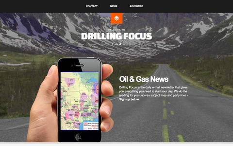 Screenshot of Home Page drillingfocus.com - Drilling Focus - Welcome to - captured Sept. 30, 2014