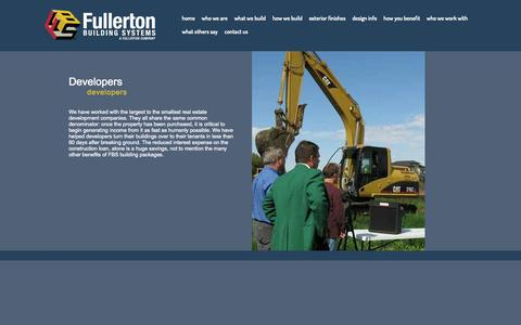 Screenshot of Developers Page fullertonbuildingsystems.com - developers | Fullerton Building Systems -  their worked - captured Sept. 30, 2014