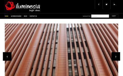 Screenshot of Home Page iluminesia.co.uk - Iluminesia Ltd - Terracotta, Stone, Glass, Concrete Rainscreen Cladding - captured Feb. 10, 2016