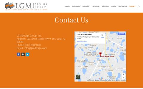 Screenshot of Contact Page lgmdesign.com - LGM Design Group | Contact Information - captured Oct. 12, 2016