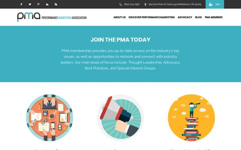Screenshot of Signup Page thepma.org - Join the PMA Today | The PMA - captured June 27, 2018