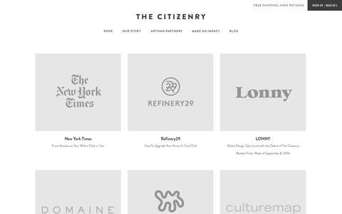Screenshot of Press Page the-citizenry.com - Press – The Citizenry - captured Nov. 5, 2014