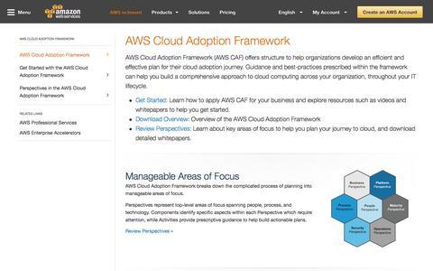 AWS Cloud Adoption Framework