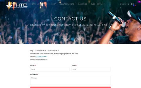 Screenshot of Contact Page thtc.co.uk - Contact Page - THTC Clothing - captured Dec. 2, 2016