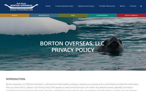 Screenshot of Privacy Page bortonoverseas.com - Borton Overseas, LLC Privacy Policy - Borton Overseas - captured July 13, 2018