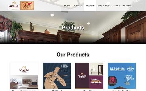 Screenshot of Products Page samratply.in - SamratPLY - captured July 8, 2017