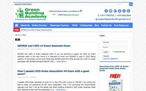 Screenshot of Blog greenbuildingacademy.co - Blog | Green Building Academy - captured Dec. 14, 2015