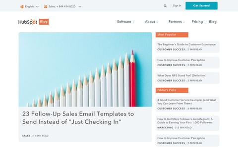 Screenshot of Blog hubspot.com - HubSpot Blog Homepage | Marketing, Sales, Agency, and Customer Success Content - captured Aug. 1, 2017