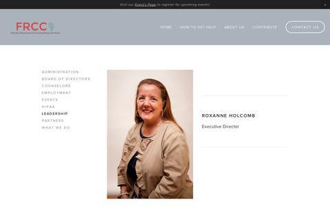 Screenshot of Team Page squarespace.com - Leadership — FRCC - captured Sept. 11, 2014