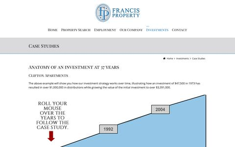 Screenshot of Case Studies Page francispm.com - Case Studies - Francis Property Management - captured Oct. 11, 2018