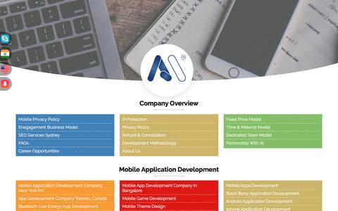 Screenshot of Site Map Page amarinfotech.com - Amar InfoTech Site Map | Software, Mobile Apps, Web Application Development - captured July 29, 2018
