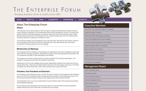 Screenshot of About Page enterprise-forum.co.uk - The Enterprise Forum - About Us - captured Nov. 5, 2018