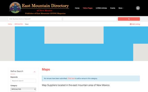 Screenshot of Maps & Directions Page eastmountaindirectory.com - Maps - captured July 15, 2018