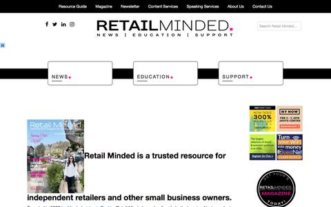 Screenshot of About Page retailminded.com captured Feb. 27, 2018