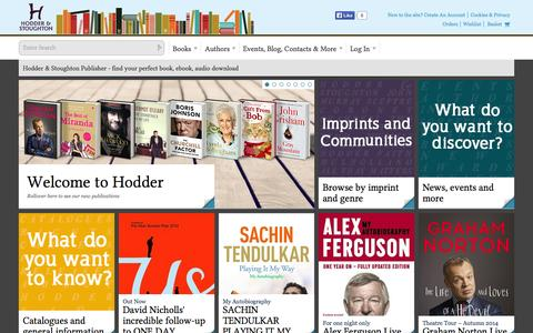 Screenshot of Home Page Login Page hodder.co.uk - Hodder & Stoughton Publisher - find your perfect book, ebook, audio download - captured Oct. 2, 2014