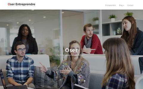 Screenshot of Home Page oserentreprendre.be - Le magazine de l'entreprenariat - Oser Entreprendre - captured Nov. 14, 2018