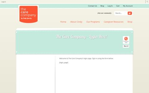 Screenshot of Login Page thecareco.com - The Care Company – Login Here! | The Care Company - captured Oct. 26, 2014