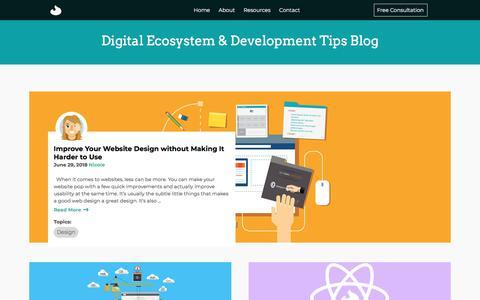 Screenshot of Blog ashday.com - Digital Ecosystem & Development Tips | Ashday Blog - captured July 9, 2018