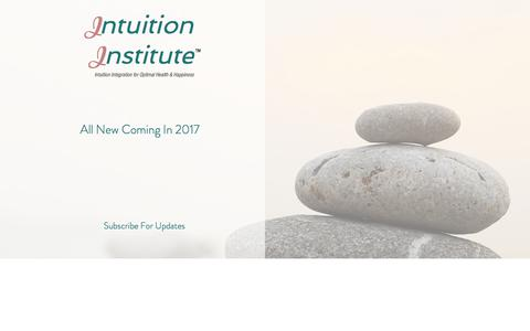 Screenshot of Home Page intuition-institute.com - Intuition Institute - captured Jan. 30, 2018