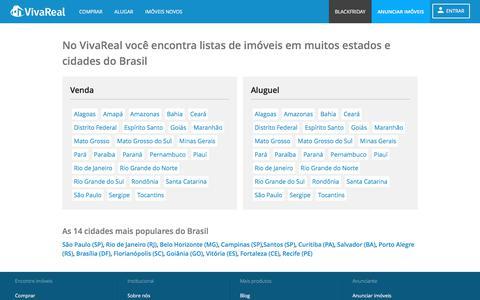 Screenshot of Site Map Page vivareal.com.br captured Nov. 12, 2017
