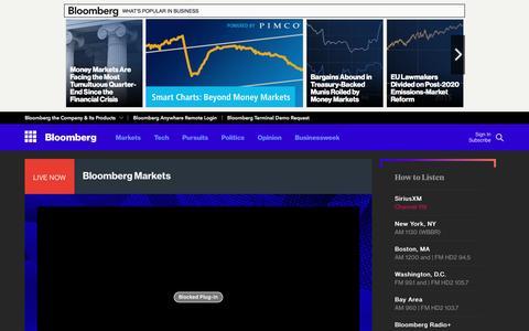 Screenshot of bloomberg.com - Live Radio - Bloomberg - captured Oct. 20, 2016