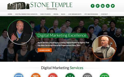 Screenshot of Home Page stonetemple.com - Digital Marketing Excellence, Content Marketing, SEO, Social Media - captured Sept. 23, 2014