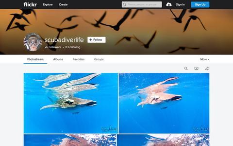 Screenshot of Flickr Page flickr.com - scubadiverlife | Flickr - Photo Sharing! - captured Oct. 2, 2015