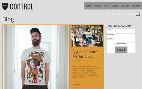 Screenshot of Blog control-club.ro - Blog   Control Club - the alternative - captured July 24, 2015