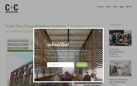 Screenshot of Blog ccarchitecture.com - C+C Architecture/Blog - captured July 13, 2018
