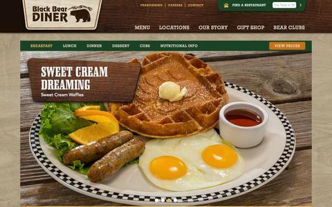 Screenshot of Menu Page blackbeardiner.com - Breakfast | Black Bear Diner - captured Nov. 11, 2015