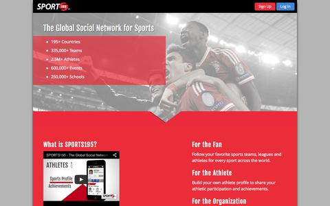 Screenshot of Home Page sport195.com - SPORTS195  | Official Site - captured Jan. 22, 2015