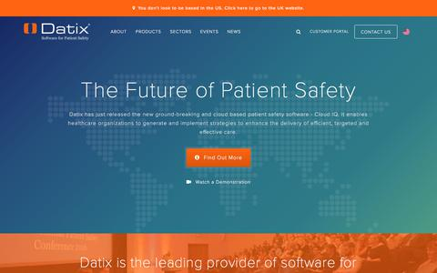 Patient Safety Software - Datix Saves Lives | Datix