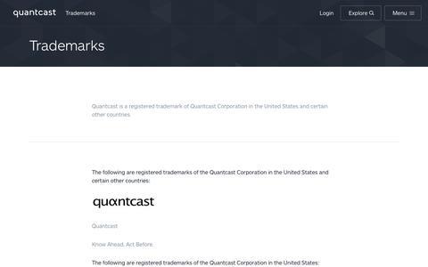 Trademarks | Quantcast