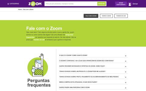 Screenshot of Contact Page zoom.com.br - Zoom - Busque, Compare, Escolha o menor preço para comprar mais barato! - captured Oct. 27, 2014