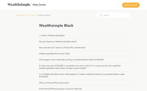 Wealthsimple Black – Wealthsimple