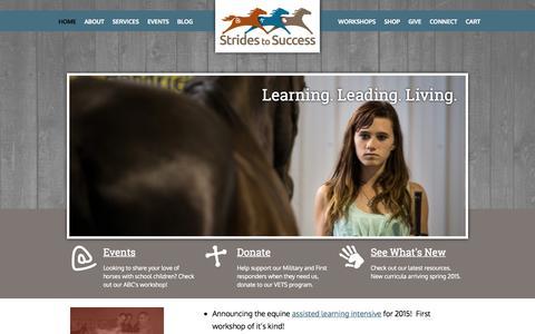 Screenshot of Home Page stridestosuccess.org - Home - Strides to Success Strides to Success - captured Aug. 15, 2015