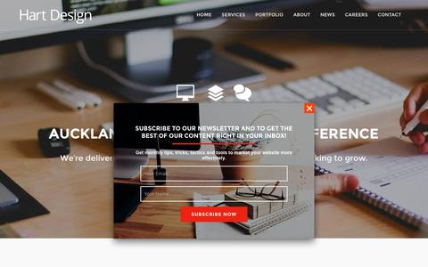Screenshot of Home Page hartdesign.co.nz - Web Design Auckland NZ :: SEO, Digital Marketing and Print - captured March 4, 2016