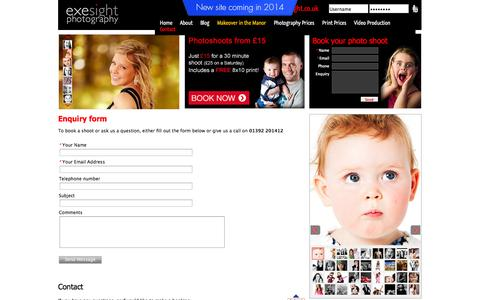 Screenshot of Contact Page Maps & Directions Page exesight.co.uk - Exesight - Studio & wedding photographers in Exeter, Devon | Contact - captured Oct. 23, 2014