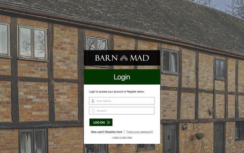 Screenshot of Login Page barnmad.co.uk - Login   Barn Mad - captured Sept. 30, 2014