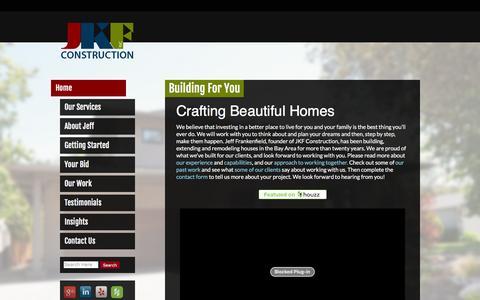 Screenshot of Home Page jkfconstruction.com - JKF Construction | Bay Area Residential Contractors - captured Dec. 18, 2015
