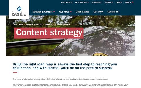 Screenshot of Services Page isentia.com - Content strategy - Isentia website - captured April 1, 2018