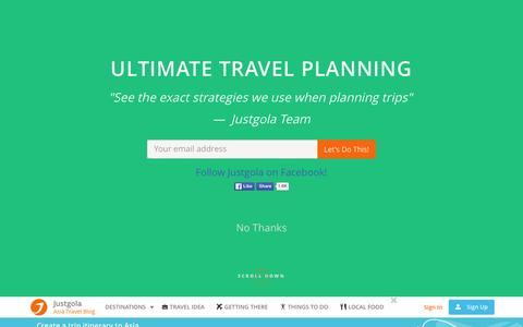 Screenshot of Blog justgola.com - Travel blog, guides, advice and tips in Asia - Justgola Travel blog - captured March 13, 2016