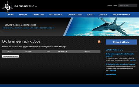 Screenshot of Jobs Page djgrp.com - Jobs - D-J Engineering, Inc. - captured Sept. 25, 2017