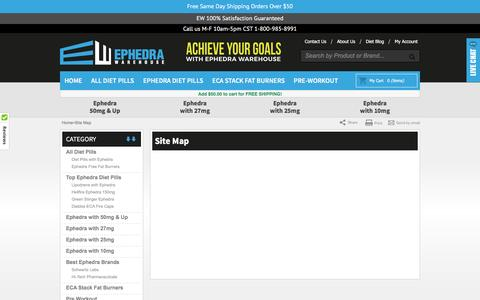Screenshot of Site Map Page ephedrawarehouse.com - Site Map - captured May 19, 2017
