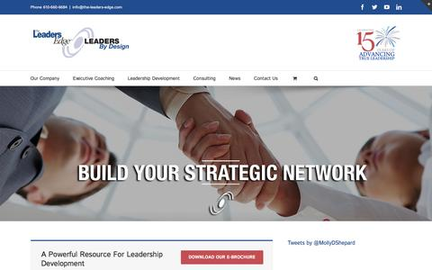 Screenshot of Home Page the-leaders-edge.com - The Leader's Edge/Leaders By Design - captured Feb. 15, 2016